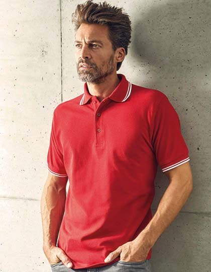 Men´s Polo Contrast Stripes